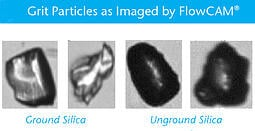 grit particles in wastewater imaged by FlowCam