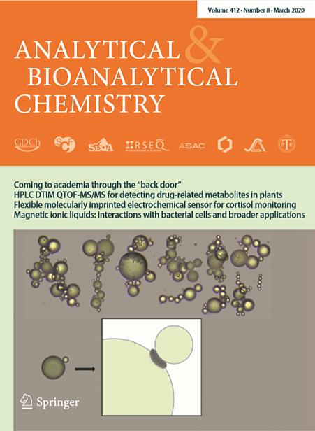 Analytical & Bioanalytical Chemistry cover featuring FlowCam data