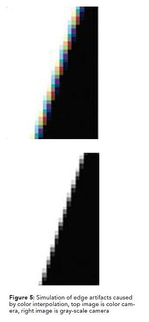 Figure 5 - Simulation of edge artifacts caused by color interpolation