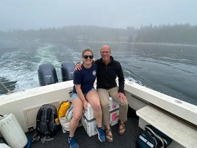 Harry and Savannah with FlowCam heading home
