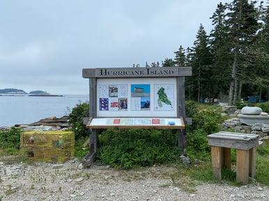 Hurricane Island Sign
