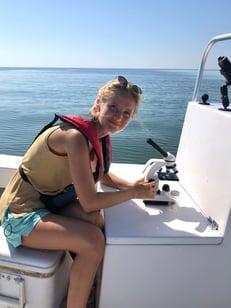 Savannah Mapes VIMS on a sampling trip