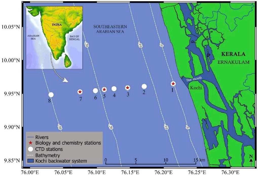 Southeastern Arabian Sea Map
