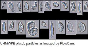 UHMWPE Plastic Particles imaged by the FlowCam