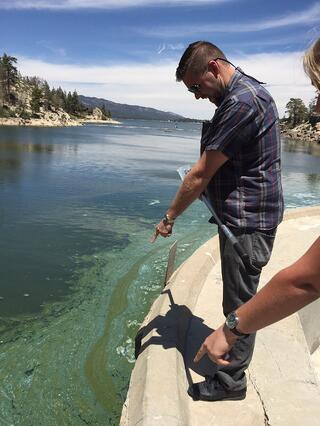 Big Bear Municipal Water District Lake Manager James Bellis Anabaena bloom