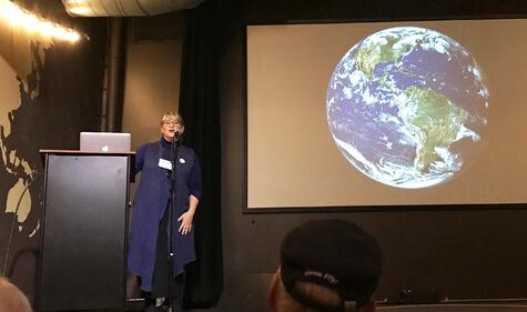 Deborah Bronk Bigelow Laboratory speaking about  Climate Change