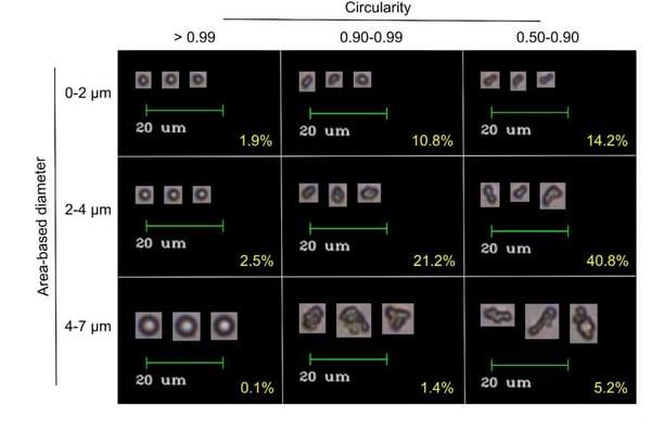 ELP coacervate imaged by FlowCam flow imaging microscopy Marvin et al 2018