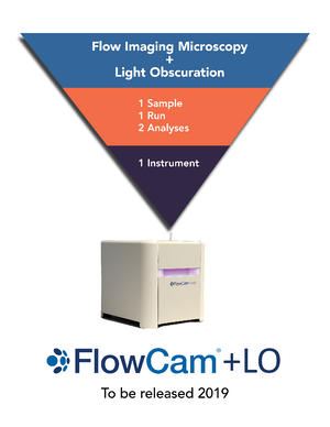 FlowCam LO light obscuration particle analyzer
